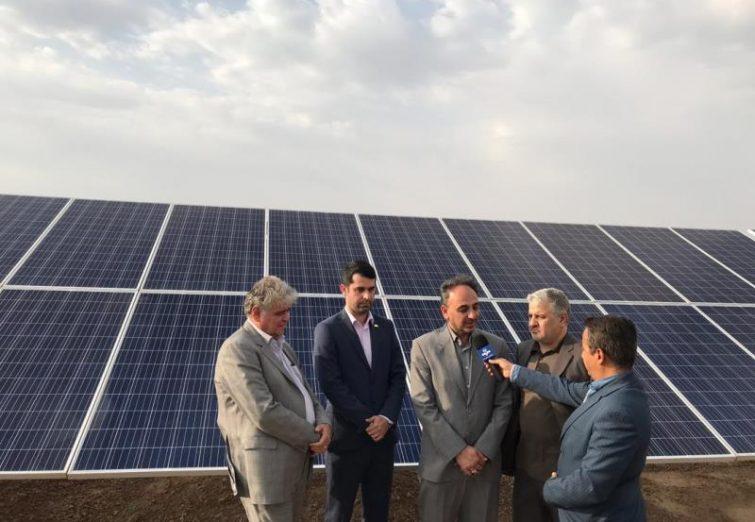 افتتاح نیروگاه خورشیدی ۱۰ مگاواتی استان فارس شهرستان اقلید